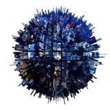 planète 3D urbaine illustration stock