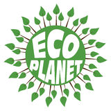 Planète abstraite verte avec les arbres et le texte Image stock