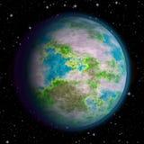 Planète aléatoire dans l'espace avec des étoiles Illustration de Vecteur