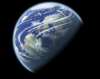 Planète avec le climat Photographie stock