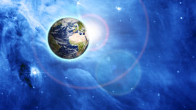 Planète bleue dans le bel espace photographie stock