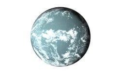 Planète bleue de fiction avec l'atmosphère photos stock