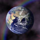 Planète bleue de la terre dans l'espace illustration de vecteur