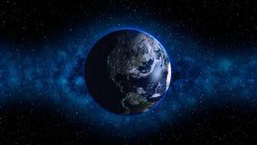 Planète bleue en ciel nocturne Image stock