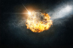 Planète brûlante image stock