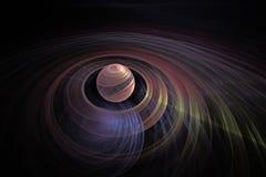 Planète colorée avec des anneaux Photo libre de droits