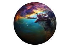 Planète colorée fantastique, d'isolement sur le fond blanc Des ?l?ments de cette image ont ?t? fournis par ESA-Hubble images libres de droits
