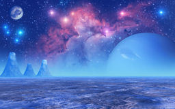 Planète congelée Photographie stock libre de droits