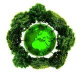 Planète d'écologie avec avec des arbres autour La terre d'Eco Photo stock