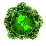 Planète d'écologie avec avec des arbres autour La terre d'Eco Photographie stock libre de droits