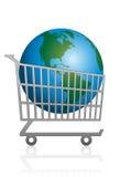 Planète d'achat de la terre de vente Image libre de droits