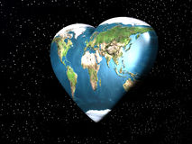 planète d'amour de la terre Image libre de droits