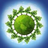 Planète d'arbre illustration stock