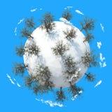 Planète 3D d'hiver Photographie stock