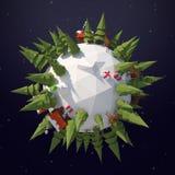 Planète 3D d'hiver Photos libres de droits