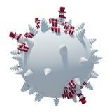 Planète 3D d'hiver Images stock