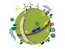 Planète d'Eco Photos stock