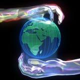Planète dans des mains Photographie stock libre de droits