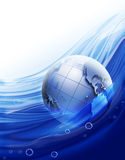Planète dans l'eau Photographie stock libre de droits