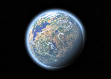 Planète dans l'espace illustration de vecteur