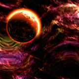 Planète dans l'espace Photo stock