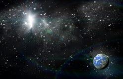 Planète dans l'espace image libre de droits
