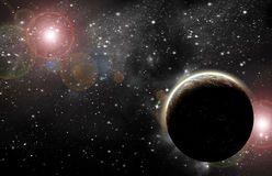 Planète dans l'espace images stock