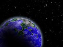 Planète dans l'espace Photographie stock
