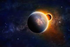 Planète dans l'espace lointain Photographie stock