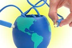 Planète de câble images stock