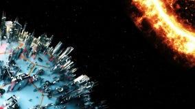 Planète de Cyber Technologie de cosmos animation