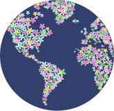 Planète de fleur Photographie stock libre de droits