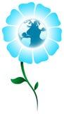 Planète de fleur illustration de vecteur
