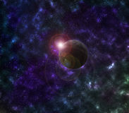 Planète de galaxie Photo stock