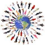 planète de gens de la terre Photo libre de droits