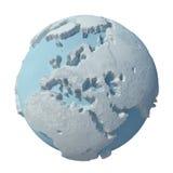 Planète de l'hiver 3D Photo libre de droits