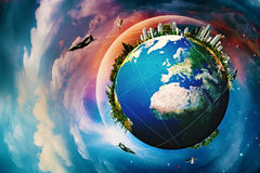 Planète de la terre. photos libres de droits