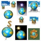 planète de la terre d'affaires illustration de vecteur