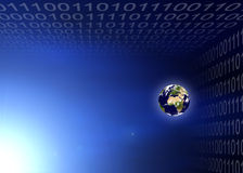 Planète de la terre en code binaire illustration libre de droits