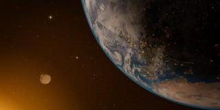 planète de lune de la terre Photographie stock libre de droits