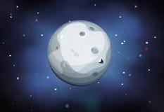 Planète de lune sur le fond de l'espace illustration de vecteur