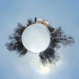 Planète de Luznica de château pendant l'hiver Images stock
