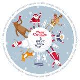 Planète de vecteur de Joyeux Noël Image libre de droits