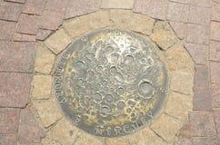Planète en bronze de Mercury images stock