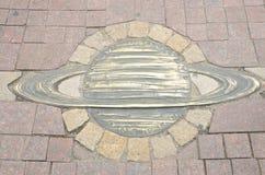Planète en bronze de Saturn photographie stock