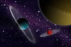 Planète et satellite de gaz illustration de vecteur