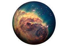 Planète fantastique, d'isolement sur le fond blanc Des ?l?ments de cette image ont ?t? fournis par ESA-Hubble image libre de droits