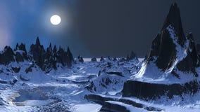 Planète froide illustration stock