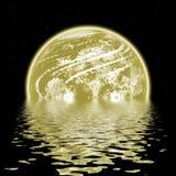 Planète, gisement d'étoile et eau Image stock