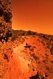 Planète inconnue Photographie stock